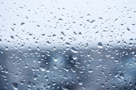 rain outside the window, drops of rain on the windowpane