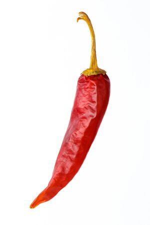 Dried red hot, paprika, isolated on a white background