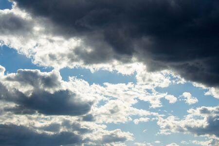 Blue sky background with clouds Фото со стока
