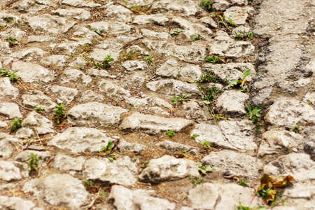Old vintage paving stones as background. As a background. Imagens - 151518257