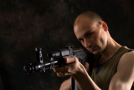 man with gun Stock Photo - 5318474
