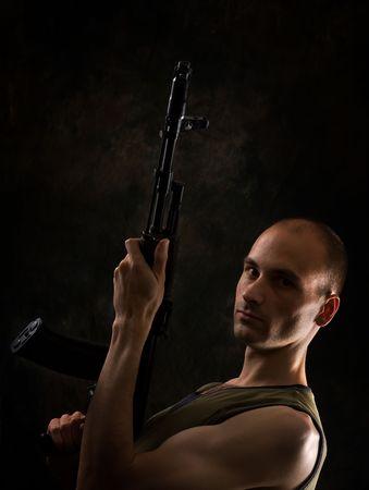 man with gun Stock Photo - 5318386