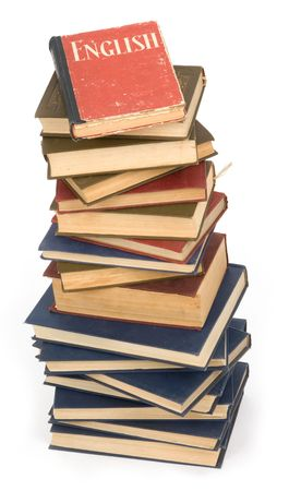 pile of books. Isolated on white background Stock Photo - 5339468