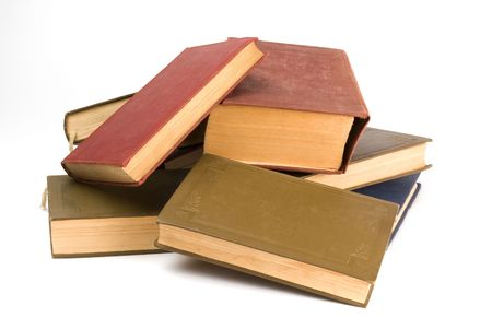 pile of books - isolated on white background Stock Photo - 5339446