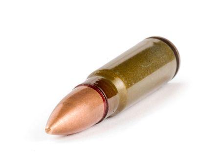 millimetres: bullet isolated on white background