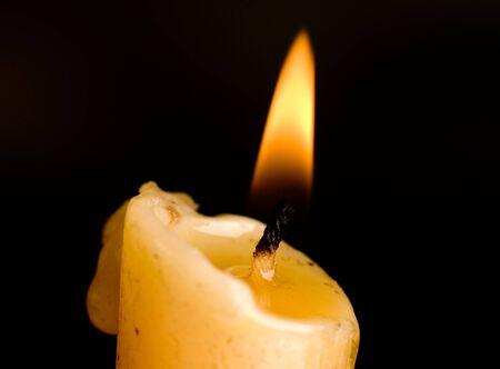 Candle on black background Stock Photo - 5339214