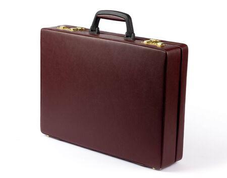 attache: Leather briefcase