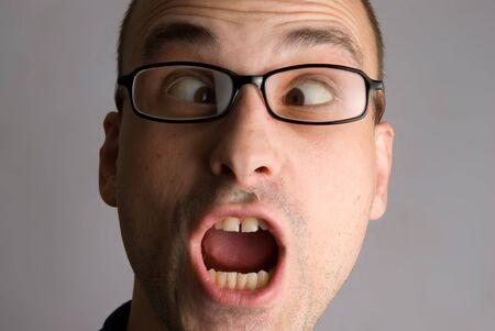 Portrait of crazy man Stock Photo - 5318376