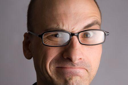 sulk: man expressive portrait