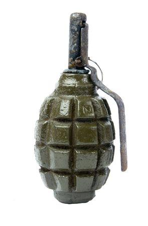 granade: Old Hand Grenade on white background