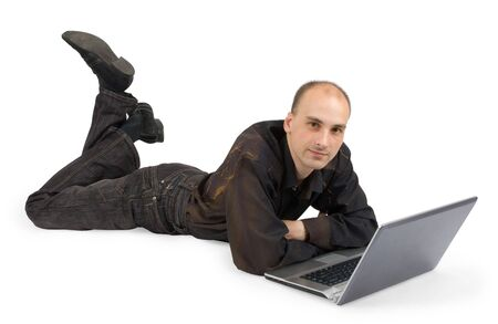 a student that work with a laptop Stock Photo - 5318380