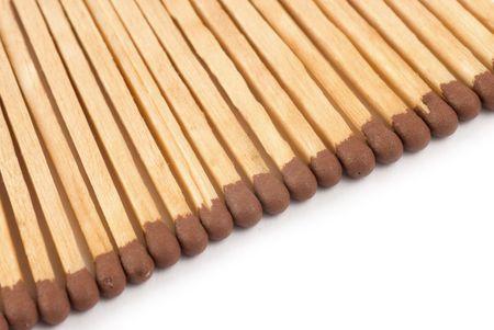 matches close up on white background Stock Photo - 5339406