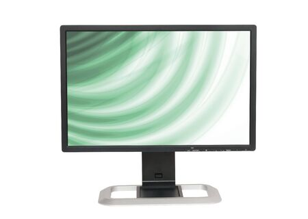 flat screen LCD monitor, isolated on white photo