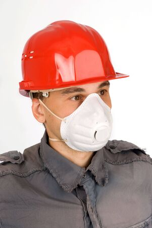respiratory apparatus: Dust Mask Respirator Stock Photo