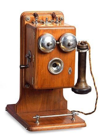 old phone: retro telephone Stock Photo