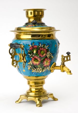 samovar - old russian teapot Stock Photo - 5387471