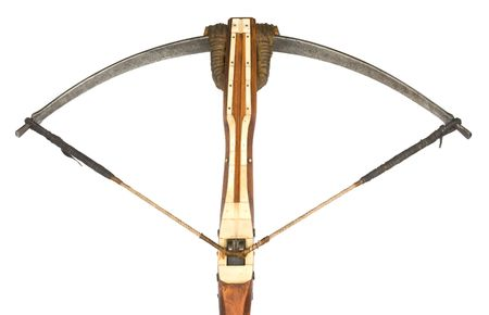 crossbow: a old crossbow isolated on white