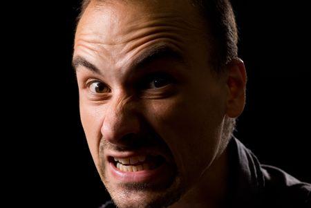 Low-key portrait of scary man Stock Photo - 5497410