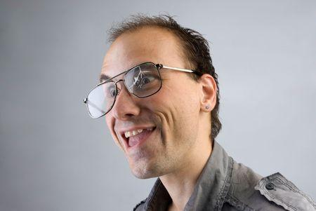 Portrait of funny man photo