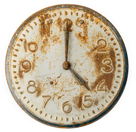 Old rusty Clock Face photo