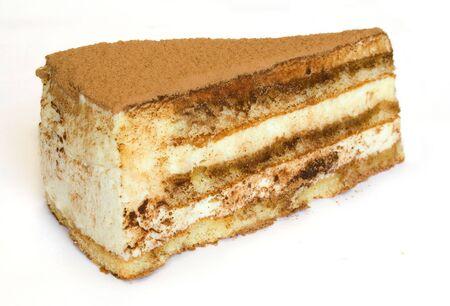 Slice of cake tiramisu photo