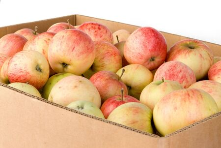 pectin: Box of harvested apples