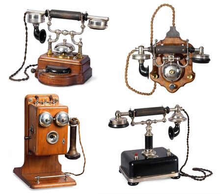 Collection of retro telephones Stock Photo - 5603651