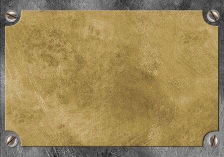 nameboard: brass yellow metal