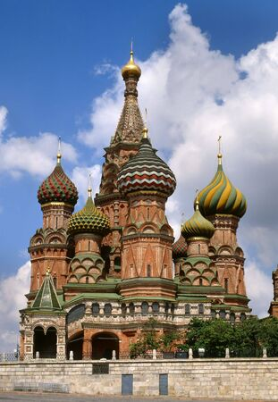 St. Basils Cathedral on the Red Square in Moscow, Russia  photo