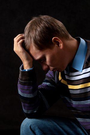 Man thinking about something photo