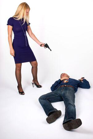 killer: beautiful killer Stock Photo