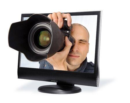 paparazzi through a computer screen photo