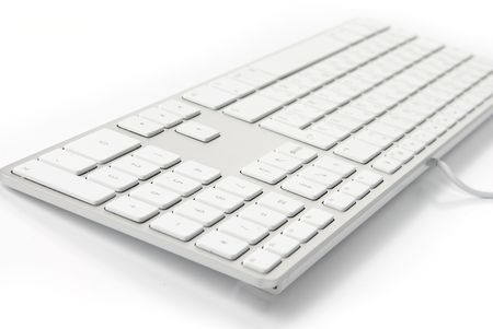 photo of a close up on a modern white keyboard Stock Photo - 5849845