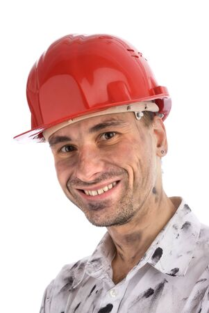 close-up portrait of a young builder or a coal miner Stock Photo - 5887315