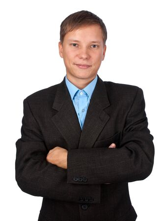 young satisfied businessman over white background Stock Photo - 6020498