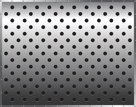 metal background with circles Vector