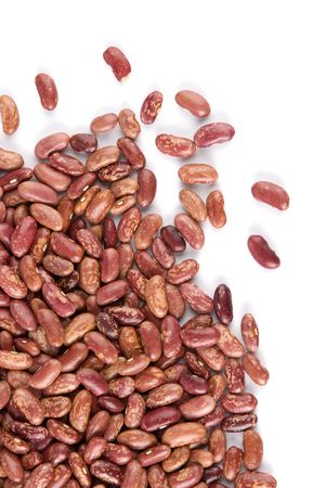 haricot: red haricot beans on white