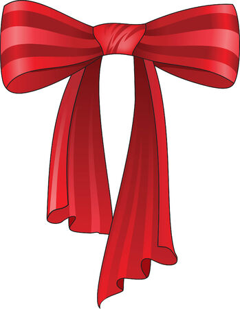 bows and ribbons: Beautiful red silk bow. Vector illustration Illustration