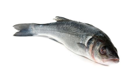 生の魚は白い背景で隔離 写真素材