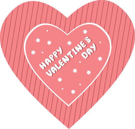 Valentine's Day card.  illustration Stock Vector - 6245803