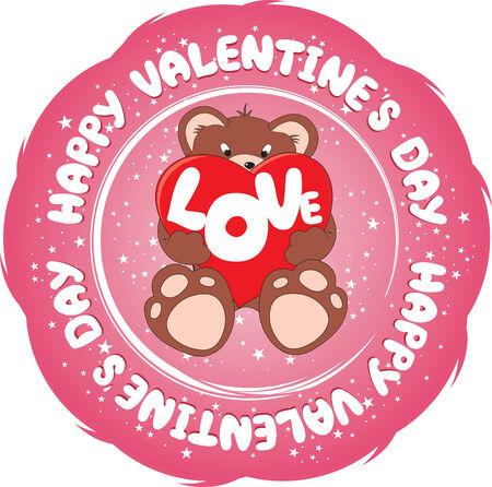 romantic Valentine's Day sign Stock Vector - 6292542