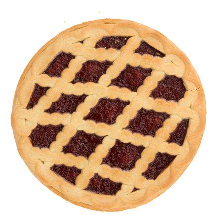 pie with cherry jam isolated on white Stock Photo - 6339077