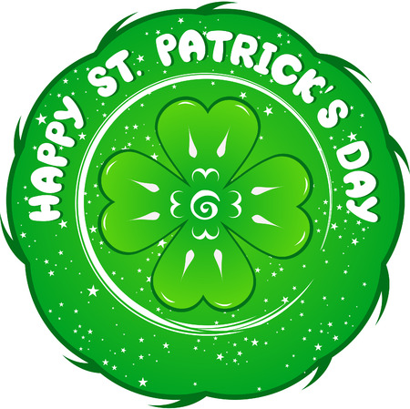 St. Patricks Day sign. Vector