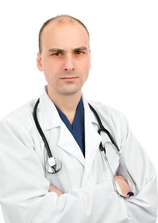 disapproving: Doctor with a disapproving expression