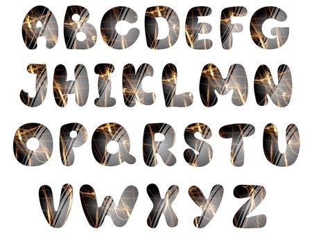 beautiful alphabet: beautiful alphabet over white background Stock Photo