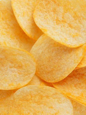 grasas saturadas: Fondo de papas fritas