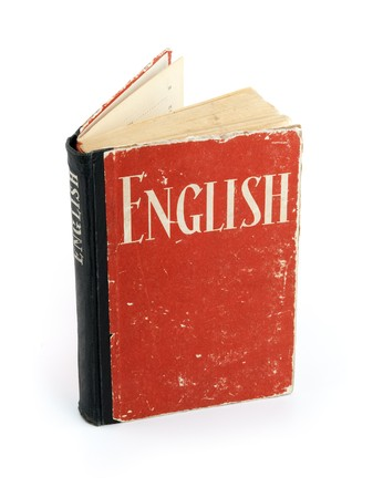 learn english: Old English Dictionary Stock Photo