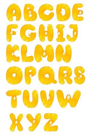 orange fruit alphabet photo