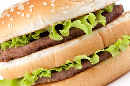 Tasty hamburger closeup Stock Photo - 7090240