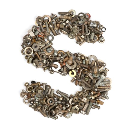 alphabet made of bolts - The letter s Stock Photo - 7090237